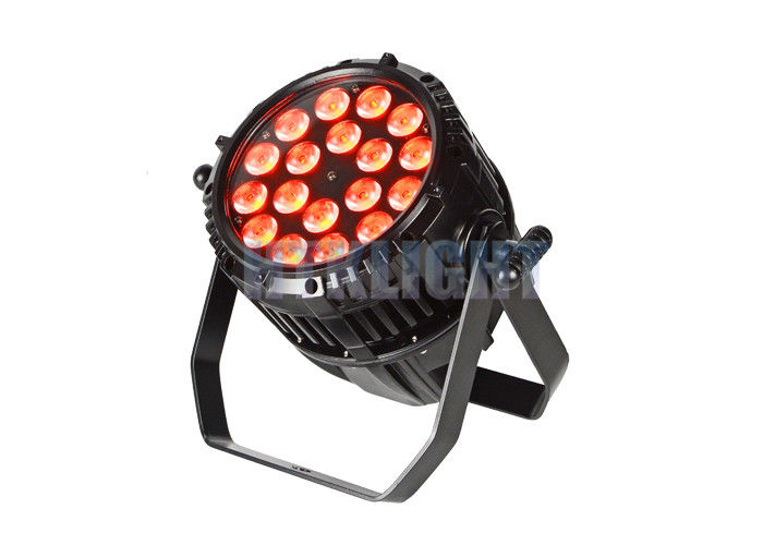 Black Aluminum Housing Waterproof LED Par Light / RGBWA LED Par